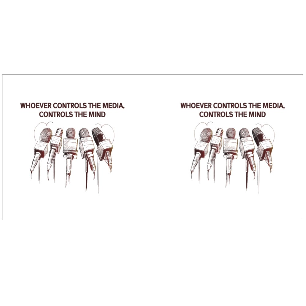 Whoever Controls the Media, Controls the Mind Colour Mugs