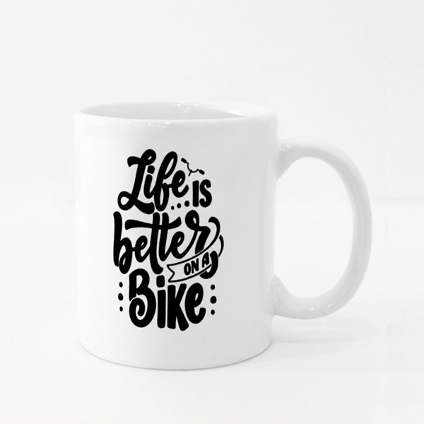 Life Is Better on a Bike Colour Mugs