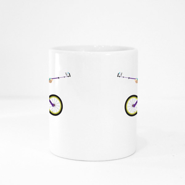 Active Bicyclist Character Colour Mugs