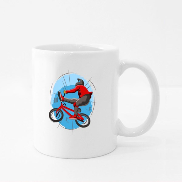 Bmx Freestyle Turns and Jumps Colour Mugs