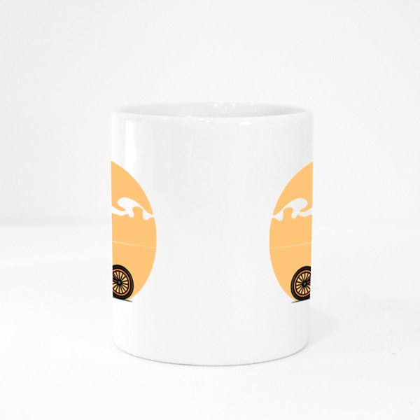 Bmx Bike Riding in the Sunset Colour Mugs