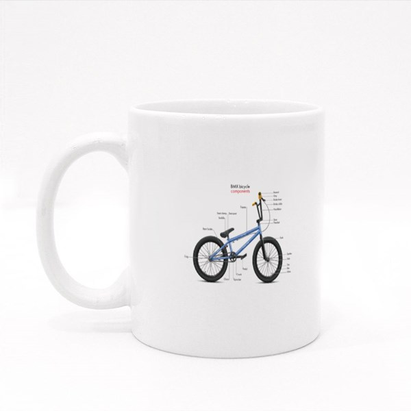 Labeled Bmx Components Colour Mugs