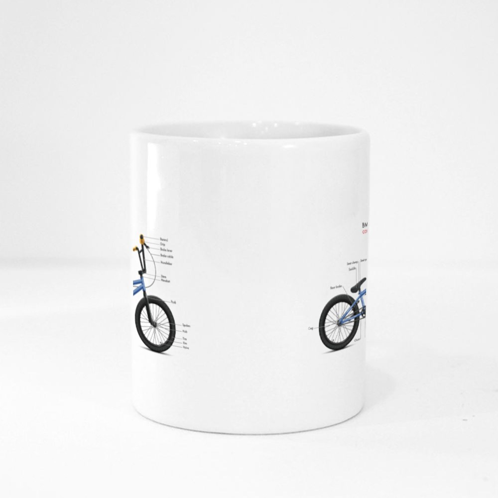 Labeled Bmx Components Magic Mugs