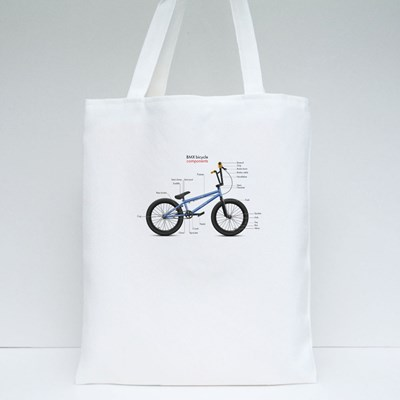 Labeled Bmx Components Tote Bags