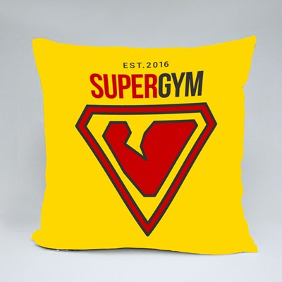 Supergym Est 2016 Throw Pillows