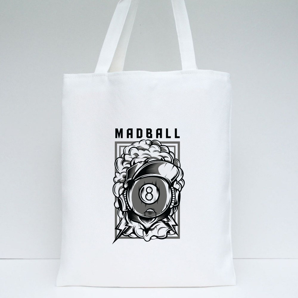 Madball Eight Black and White Tote Bags