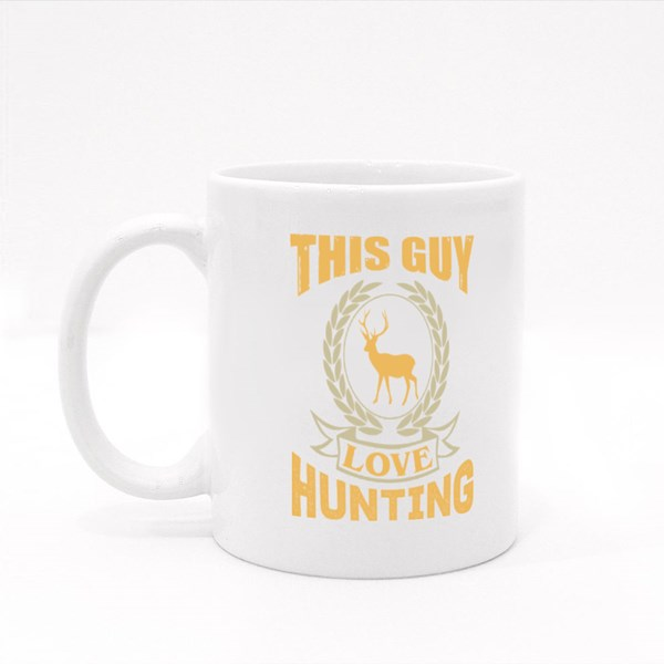 This Guy Love Hunting Colour Mugs