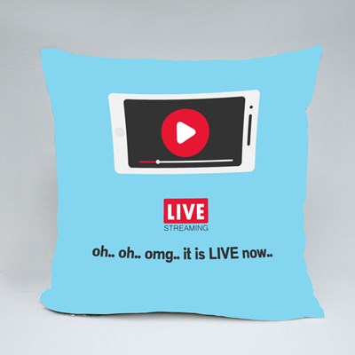 Oh.. Oh.. Omg.. It Is Live Now Throw Pillows