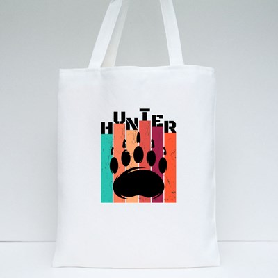Bear Hunter With Paw Tote Bags