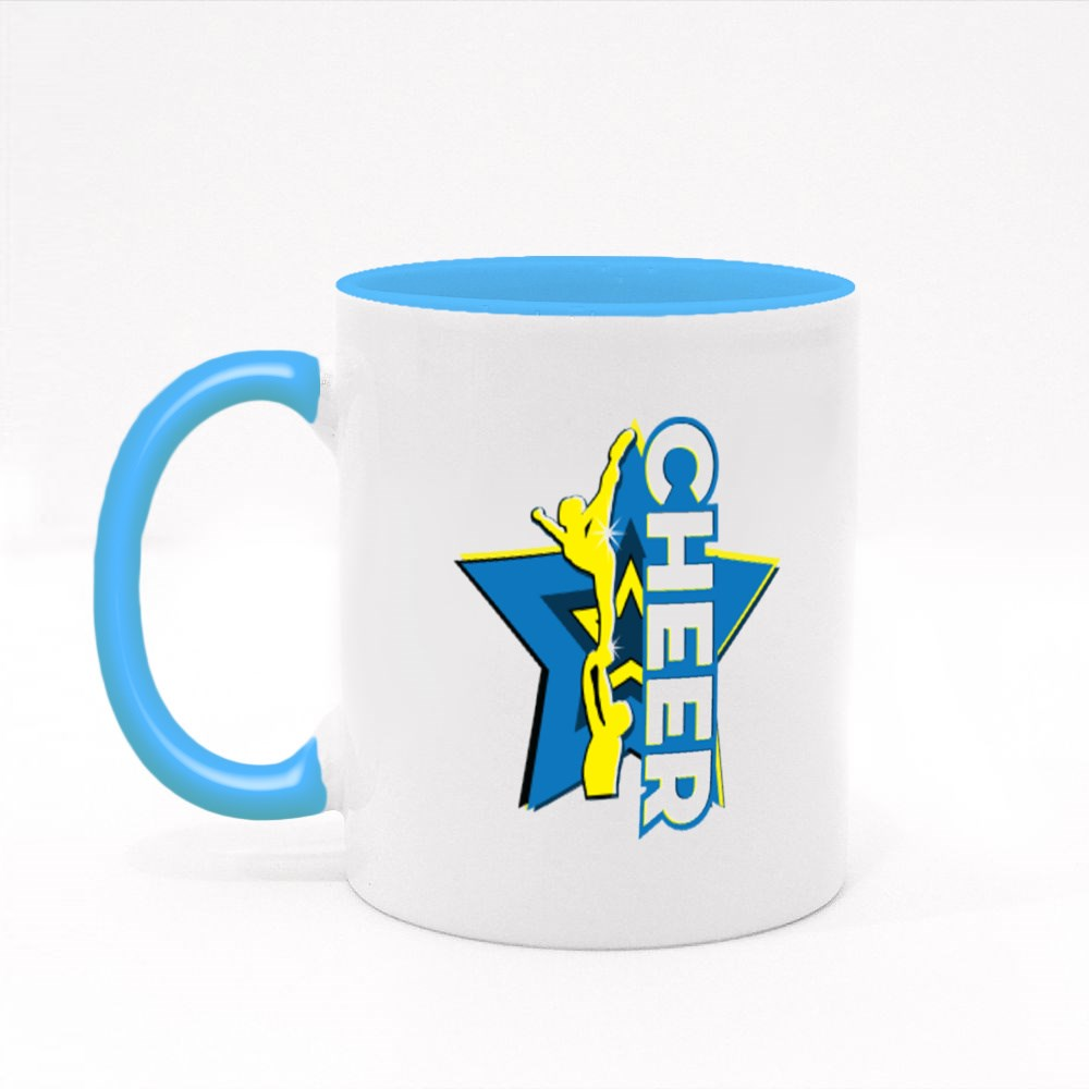 Cheer Stunt and Star Colour Mugs