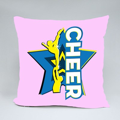 Cheer Stunt and Star Throw Pillows