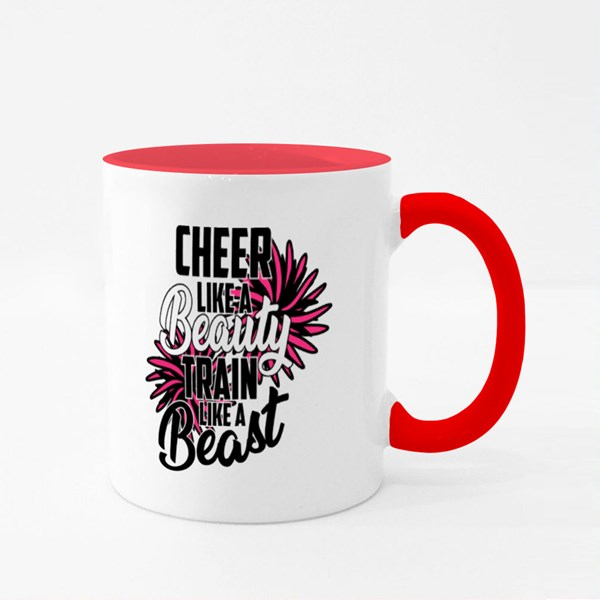 Cheer Like a Beauty Train Like a Beast Colour Mugs