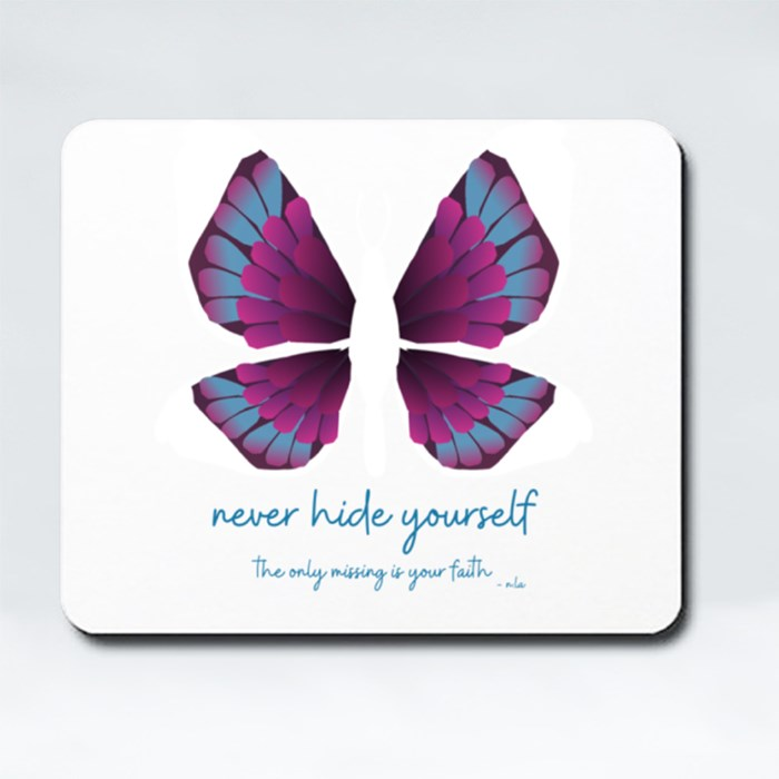 Faith in Butterfly Edition Mousepads (Rectangle)