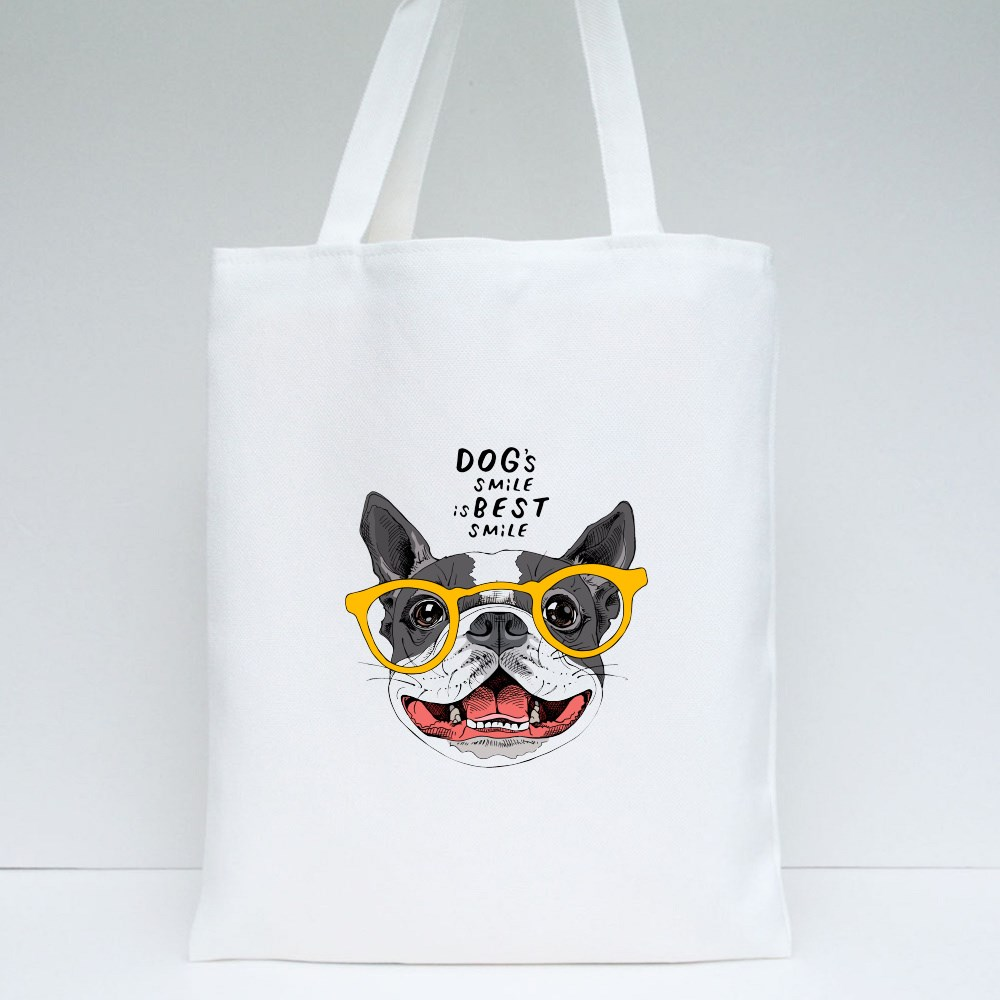 Dog's Smile Is the Best Smile Tote Bags