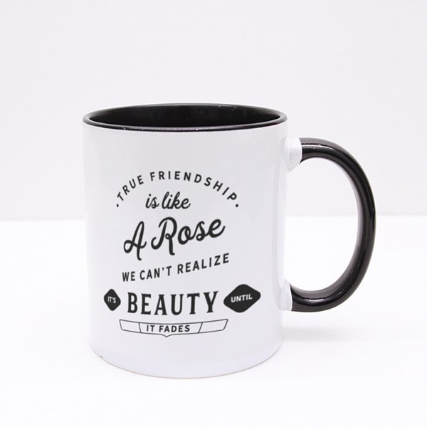 True Friendship Is Like a Rose Colour Mugs