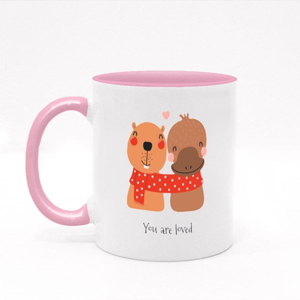 You Are Loved Friends Colour Mugs