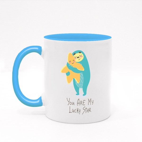You Are My Lucky Star Colour Mugs
