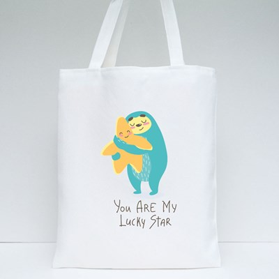 You Are My Lucky Star Tote Bags