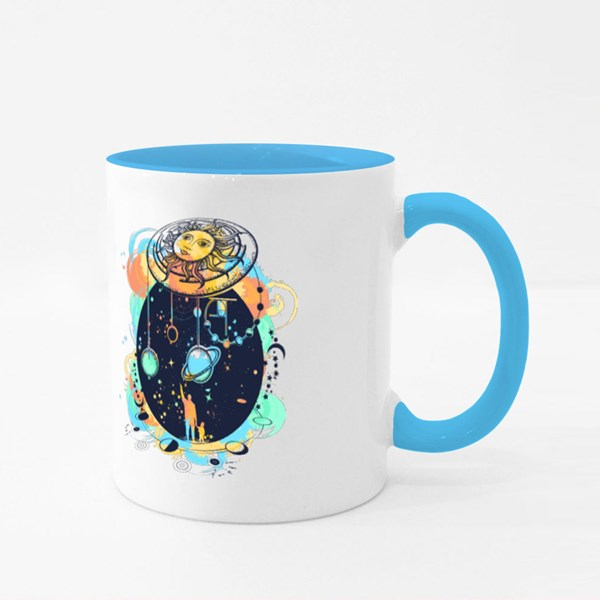 Human and Universe Watercolor Colour Mugs