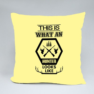What a Hunter Looks Like Throw Pillows