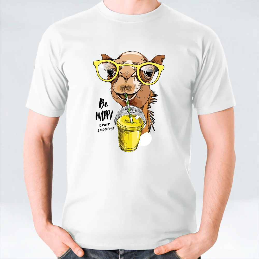 Adorable Camel in a Glasses T-Shirts