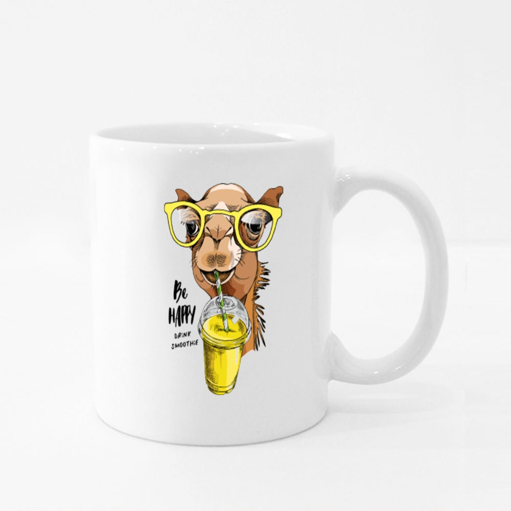 Adorable Camel in a Glasses Colour Mugs