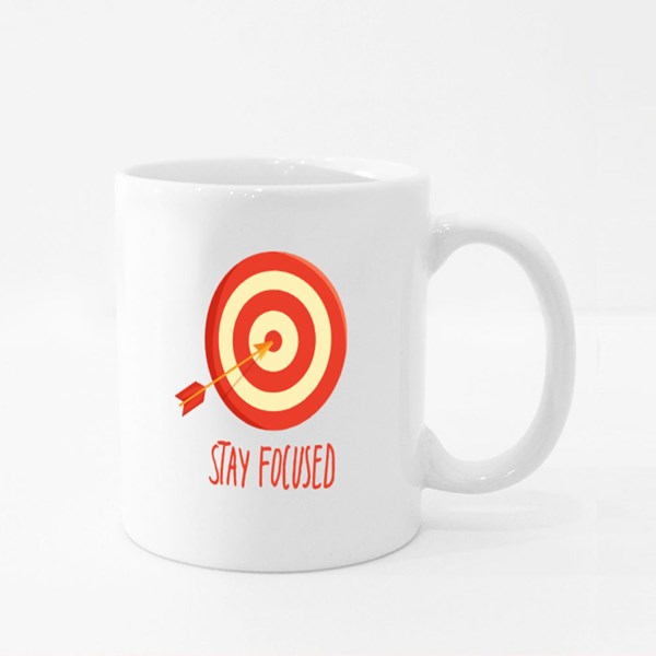 Stay Focus and Hit Bulls Eye Colour Mugs