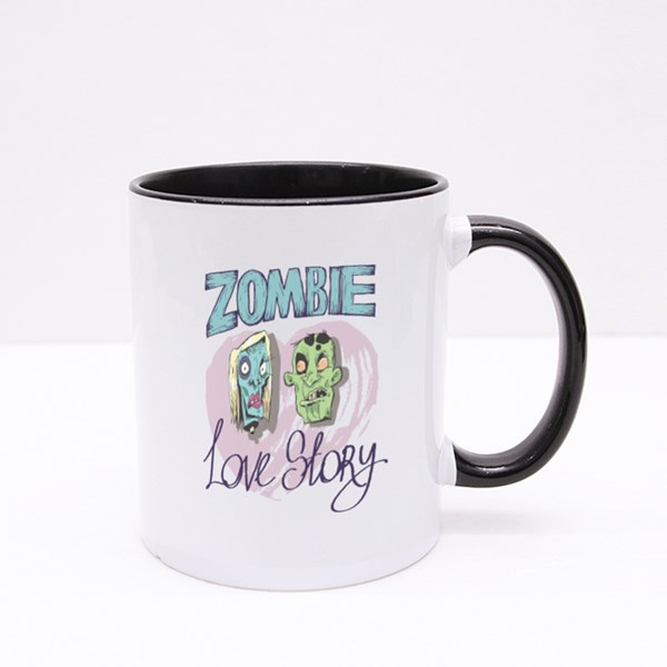 Zombie Love Story Colour Mugs
