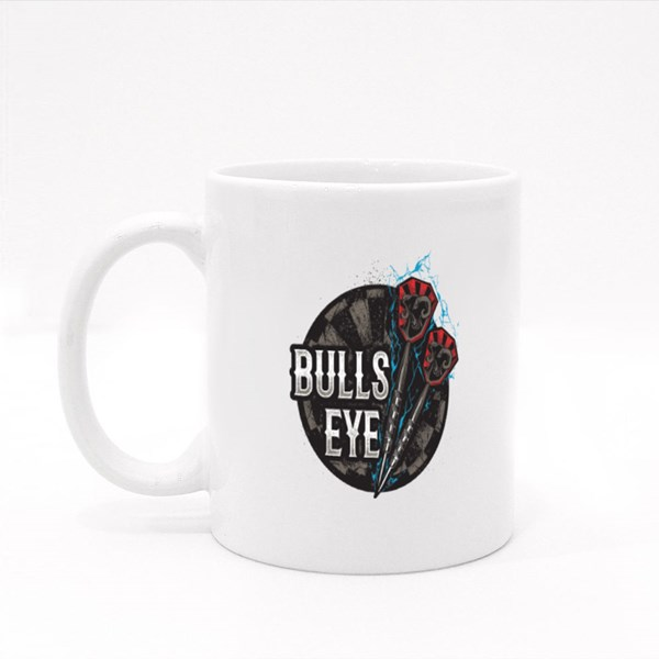 Darts Bulls Eye Colour Mugs
