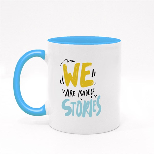 We Made of Stories 2 Colour Mugs
