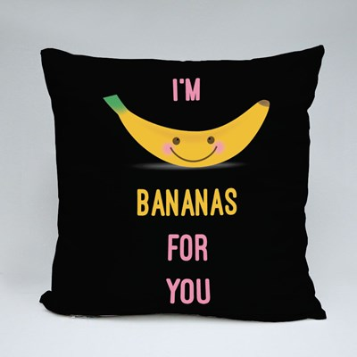 I'm Bananas for You Throw Pillows
