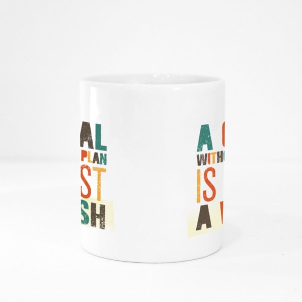 A Goal Without a Plan Colour Mugs