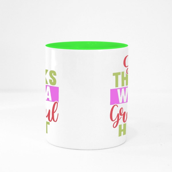 Give Thanks With a Grateful Colour Mugs