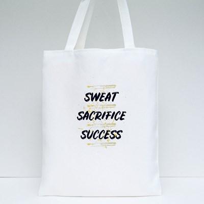 Sweat Sacrifice and Success Tote Bags