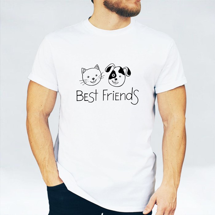 Best Friends. Cat and Dog. T-Shirts