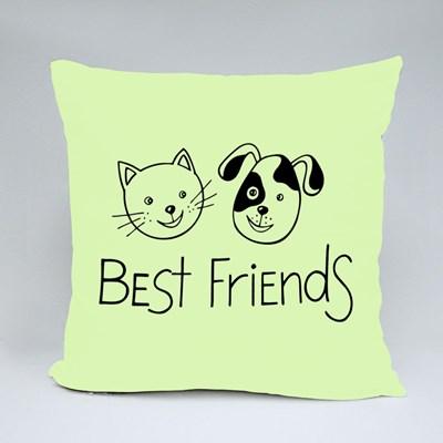 Best Friends. Cat and Dog. Throw Pillows