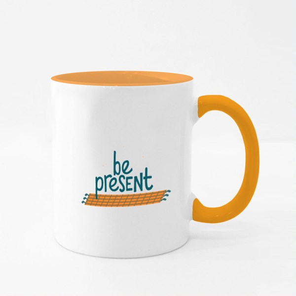 Inspiring to Be Present Colour Mugs