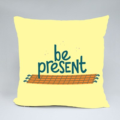 Inspiring to Be Present Throw Pillows