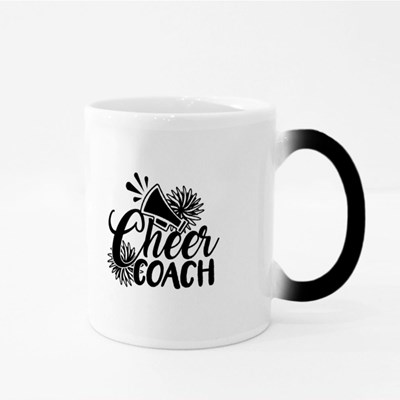 Cheer Coach With Pompoms Magic Mugs