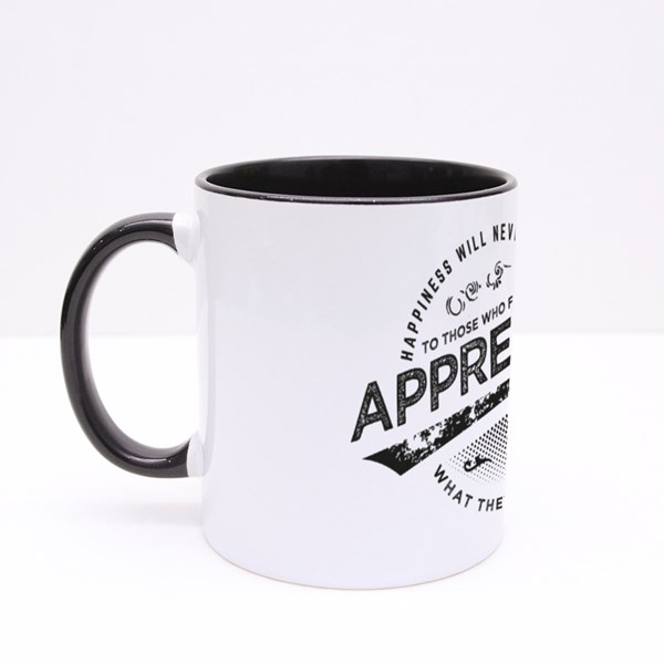 Happiness Will Never Come Colour Mugs