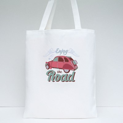 Enjoy the Road Pink Tote Bags
