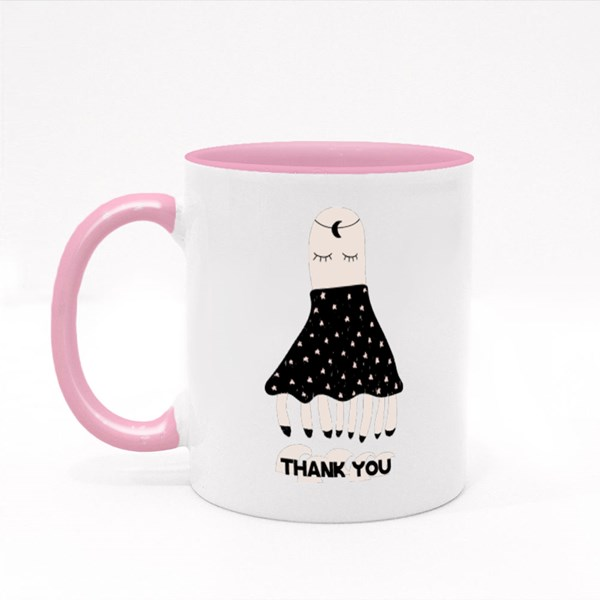 Thank You With Octopus Colour Mugs