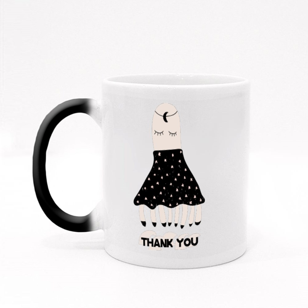 Thank You With Octopus Magic Mugs