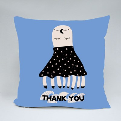 Thank You With Octopus Throw Pillows