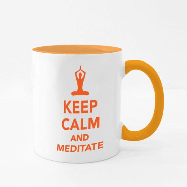 Keep Calm and Meditate Colour Mugs