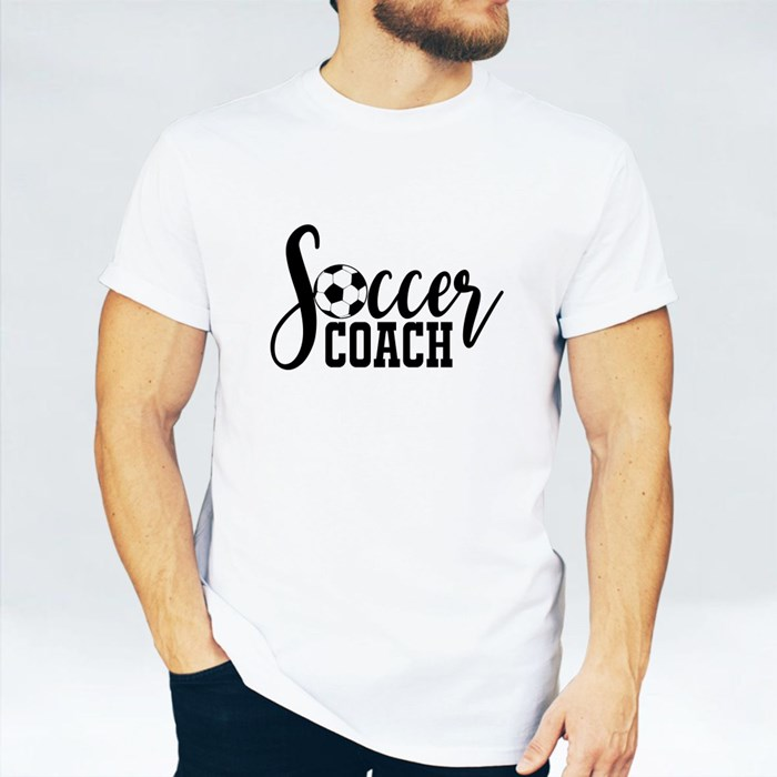 Soccer Coach With Soccer Ball 短袖T恤