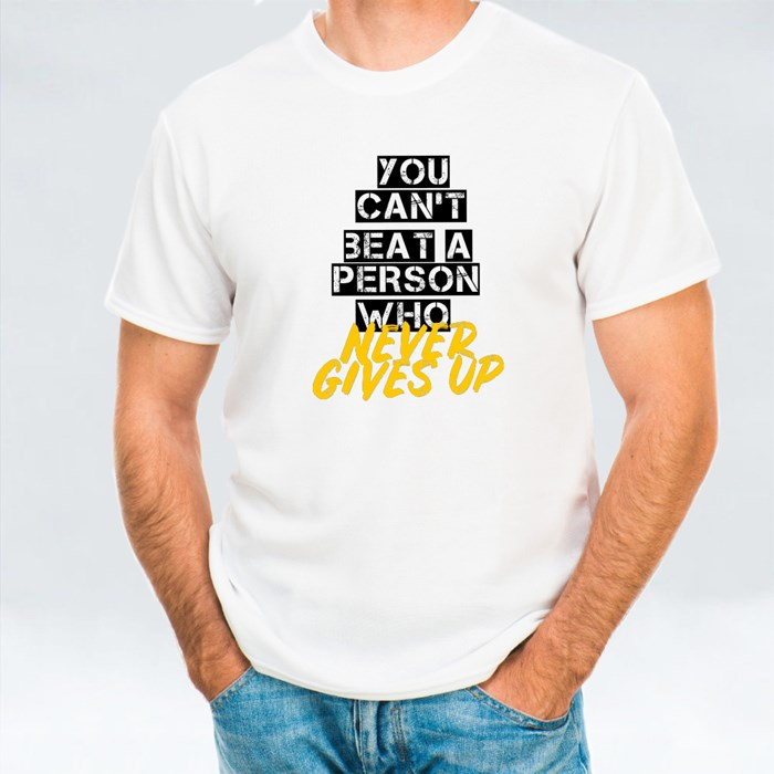 A Person Who Never Gives Up T-Shirts