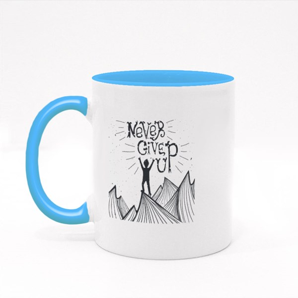 On Top of Mountain Colour Mugs