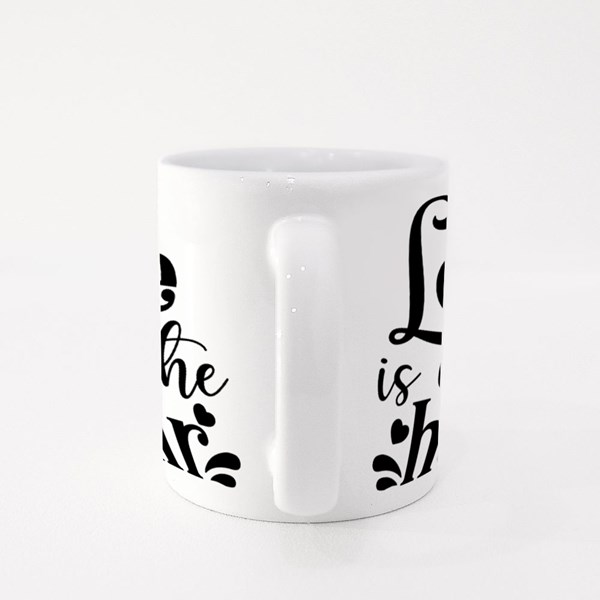 Love Is in the Hair Colour Mugs
