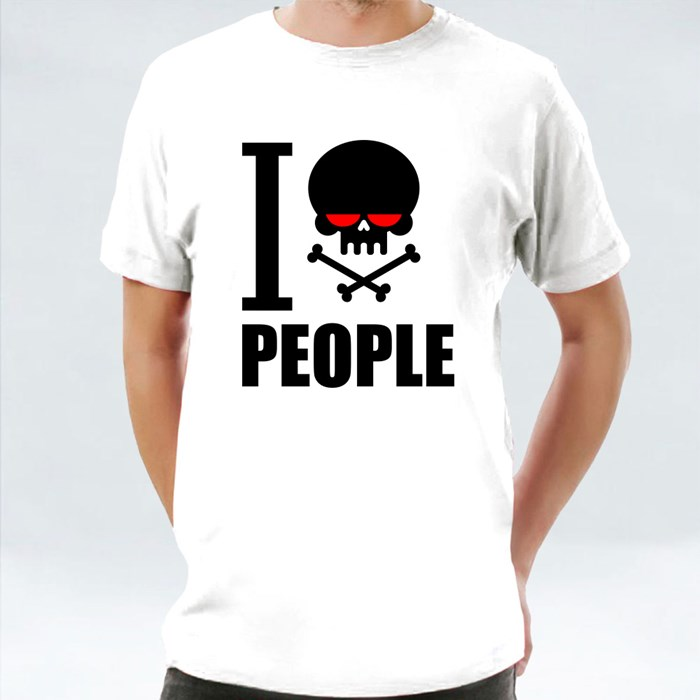 I Hate People Hatred Skull T-Shirts